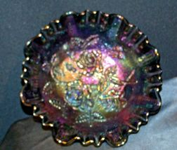 Imperial Hand Crafted Purple Carnival Glass 3 Footed Candy Dish Bowl AA19-CD0039 image 7