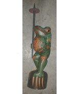 Frog Super Large Size Statue 39 inch with umbrella Hand carved in Bali - $495.00
