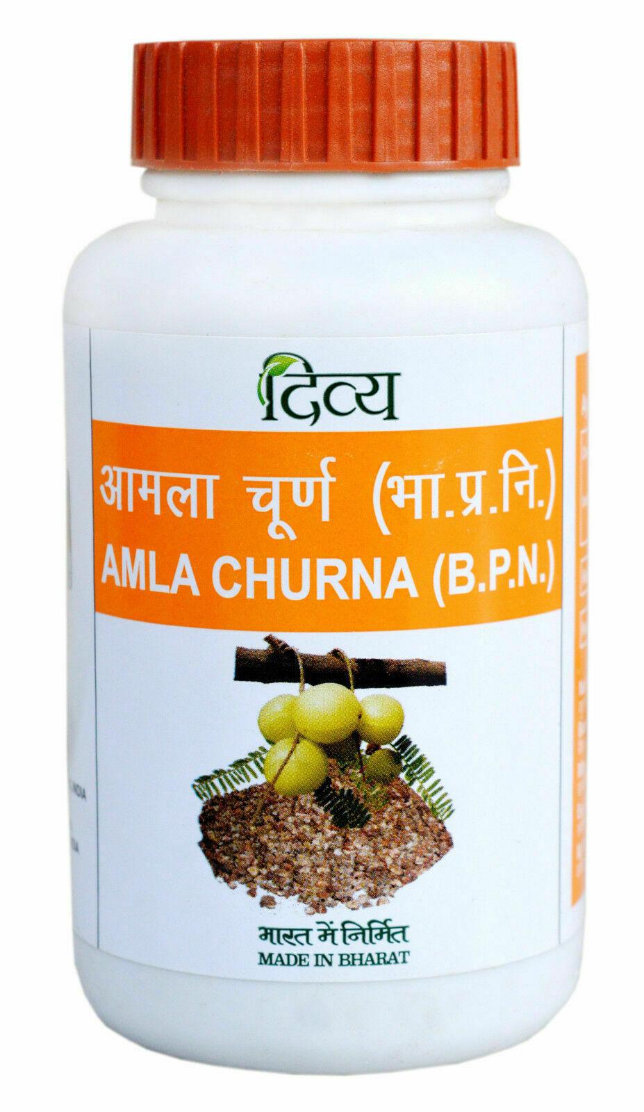 2 X Patanjali Amla Churna Powder For Skin/ Hair/ Digestion Each 100gm.