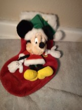 MICKEY MOUSE CHRISTMAS STOCKING--MUSICAL--BATTERY OPERATED----FREE SHIP-... - $24.47