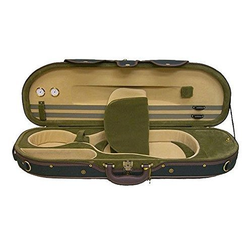 Sky Violin Halfmoon Case VNCHM09 Lightweight with Hygrometer Green/Green