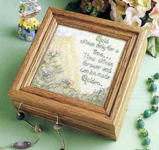 """Gold Shines Box 6x6"""" Annie's Plastic Canvas Pattern Leaflet NEW - $2.04"""