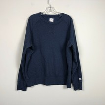 Champion Crew Neck Sweatshirt Men's Large Blue Long Sleeve Sweatshirt - $22.67