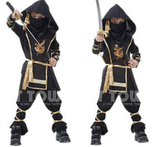 Hokage Ninjia Anime Cosplay Costume Kid Halloween Outwear Suit Elastic  ... - $37.16