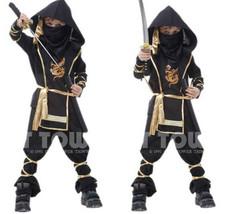 Hokage Ninjia Anime Cosplay Costume Kid Halloween Outwear Suit Elastic  ... - $37.16