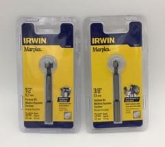 """(New) IRWIN Marples 1966895  3/8"""";  1966896  1/2""""  FORSTNER BIT  Set - $17.81"""