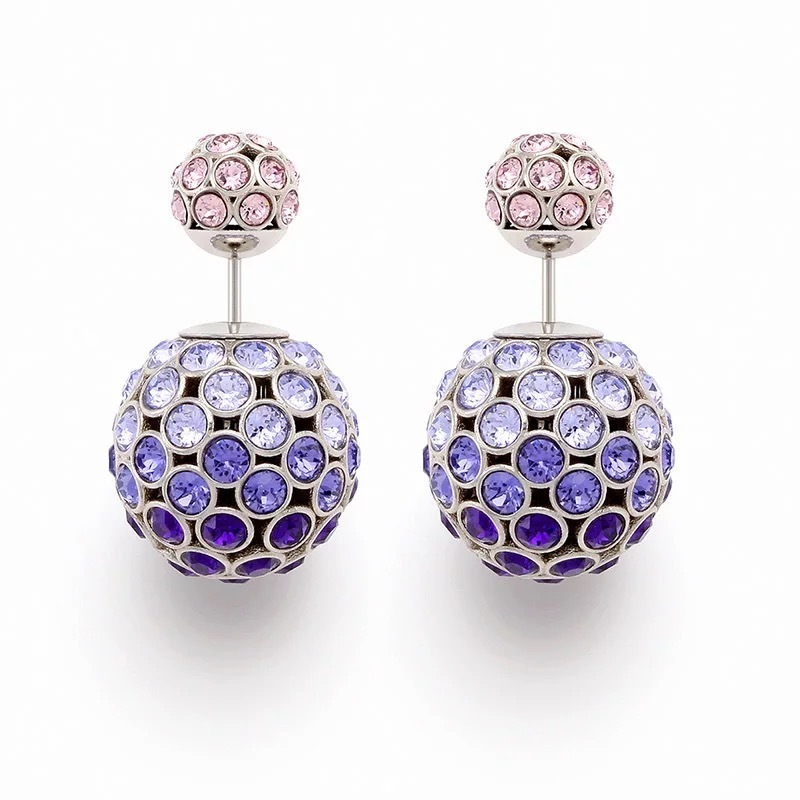 Primary image for Auth Christian Dior Mise En Dior Purple Pink Esprit Tokyo Tribal Pearl Earrings