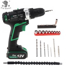 100 - 240V Cordless 12V Electric Drill / Screwdriver with Switch and 29p... - $152.80