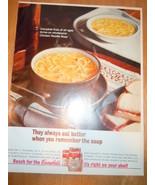 Vintage Campbell's Chicken Noodle Soup Print Magazine Advertisement 1965 - $4.99