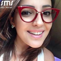 Ladies Optical Sexy Cat Eye Glasses Frames Women Brand Designer Eyeglasses Fashi image 4