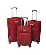 Chariot Imperia 3 Piece Lightweight Upright Spinner Luggage Set, Burgund... - $191.12