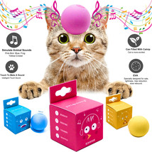 Smart touch sounds cat toys Interactive balls squeaky supplies Kitty wit... - £7.07 GBP
