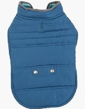 Reversible Pet Jacket: Blue/Turquoise (Size Large/Medium) - $8.99
