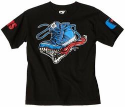 Famoso Stars Y Correas Big Boys ' Monster Zapato Niños Juventud Camiseta Nwt