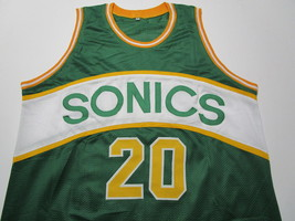 GARY PAYTON / NBA HALL OF FAME / AUTOGRAPHED SEATTLE SUPERSONICS CUSTOM JERSEY image 2