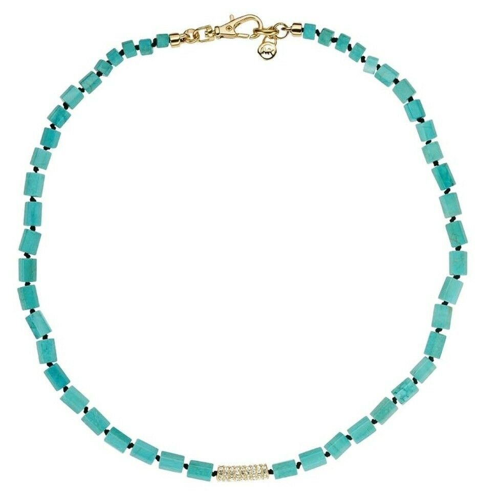 Primary image for MICHAEL KORS MKJ2734 Sea Side Luxe Turquoise Bead Collar Necklace BNWT $95