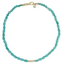 MICHAEL KORS MKJ2734 Sea Side Luxe Turquoise Bead Collar Necklace BNWT $95 - $48.75