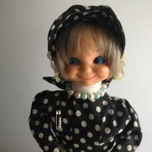 VTG 1978 Doll Polka Dot Hair Bonnet Handmade by Eva Born 1896 South Russ... - $18.02