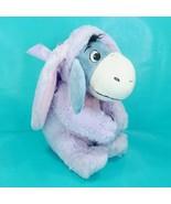 Disney Store Easter Spring Eeyore Purple Bunny Costume Stuffed Animal Pl... - $21.77