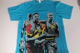 Michael Jordan Estampada Camiseta de Lemar And Dauley Talla XL Verde Azulado - $31.35