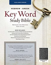 The Hebrew-Greek Key Word Study Bible: KJV Edition, Black Genuine Leathe... - $77.17