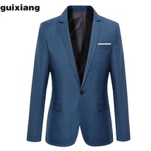 "2018 new arrival men""s business Single button suit men coat jacket blaze... - $43.00"