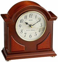 "Wooden Chiming Mantel Clock Sleek Modern Traditional Bohemian 8.5"" x 8"" x 3.75"" - $215.00"