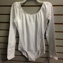 Capezio 3667 White Women's Small (4-6) Long Sleeve Leotard - $22.99
