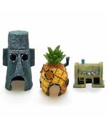 Aquarium Decor Soft Plastic Pineapple Cartoon Squidward Fish Tank Orname... - $11.87+
