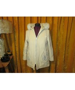 Vintage Kelsey Trail Eskimo Wool Snowflake Winter Coat Silver Fox Fur Ho... - $44.00