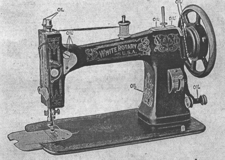 White Rotary Sewing Machine 32 page Enlarged - $9.99