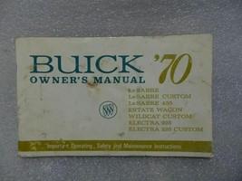Buick Lesabre Electra Wildcat Estate Wagon 1970 Owners Manual 14686 - $19.75
