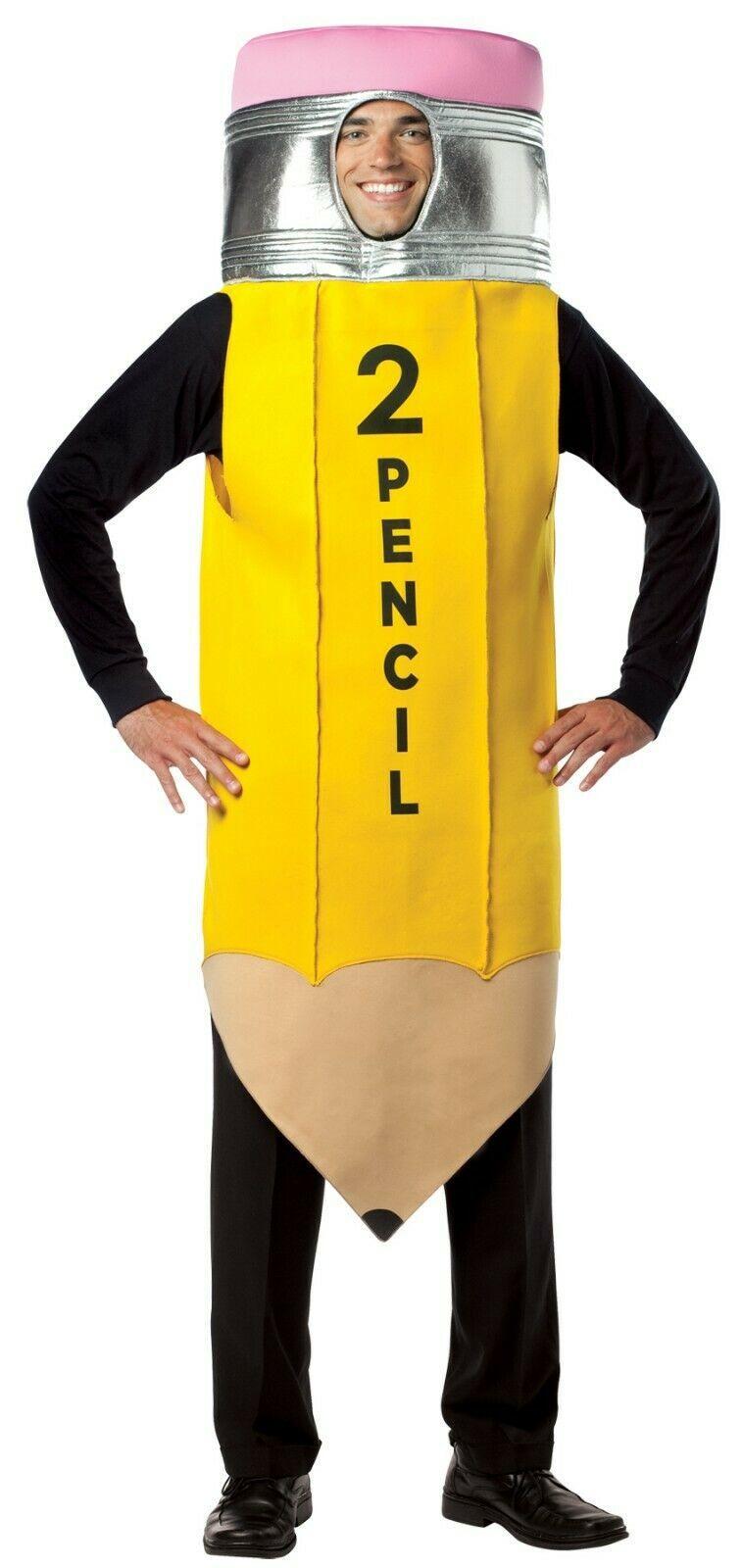 Rasta Imposta #2 Pencil Yellow Tunic Funny Adult Mens Halloween Costume GC6119