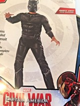 Captain America Civil War Black Panther Boys Muscle Halloween Child size... - $24.74