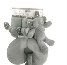 Kelly Baby Grey Elephant Set, Neck Pillow, Seat Belt Covers & Plush Rattle - $38.69