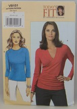 Vogue Today's Fit V8151 knit shirt pattern Sizes G H I J Plus size - $15.83