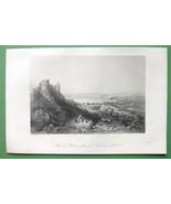 HOLY LAND Lake Tiberias - 1840s Antique Print Engraving - $7.64