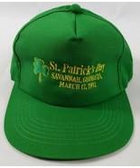 Savannah Georgia GA St Patricks Day Vintage Snapback Hat Irish Green 199... - $24.72