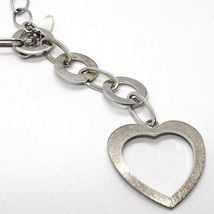 Necklace Silver 925, Chain Oval, Circles and Heart, Hanging, Satin image 3
