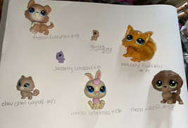 Littlest Pet Shop Lot THE SWEET SORT MAINELY FLUFFTAIL MENA MASTIFF LPS - $19.99