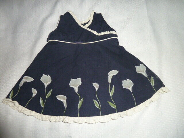 Primary image for Boutique Shemiz Baby Girl Easter Dress Calla Lily Flower 3-6 Mos