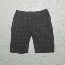 Women's Cutter & Buck Casual Shorts ~ Sz 12 ~ Flat ~ Gray & Green ~ Cott... - $24.74