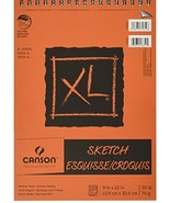 Canson XL 9 x 12 Inches Sketch Sheet Pad, Top Wire Binding C702-2441 - $14.49