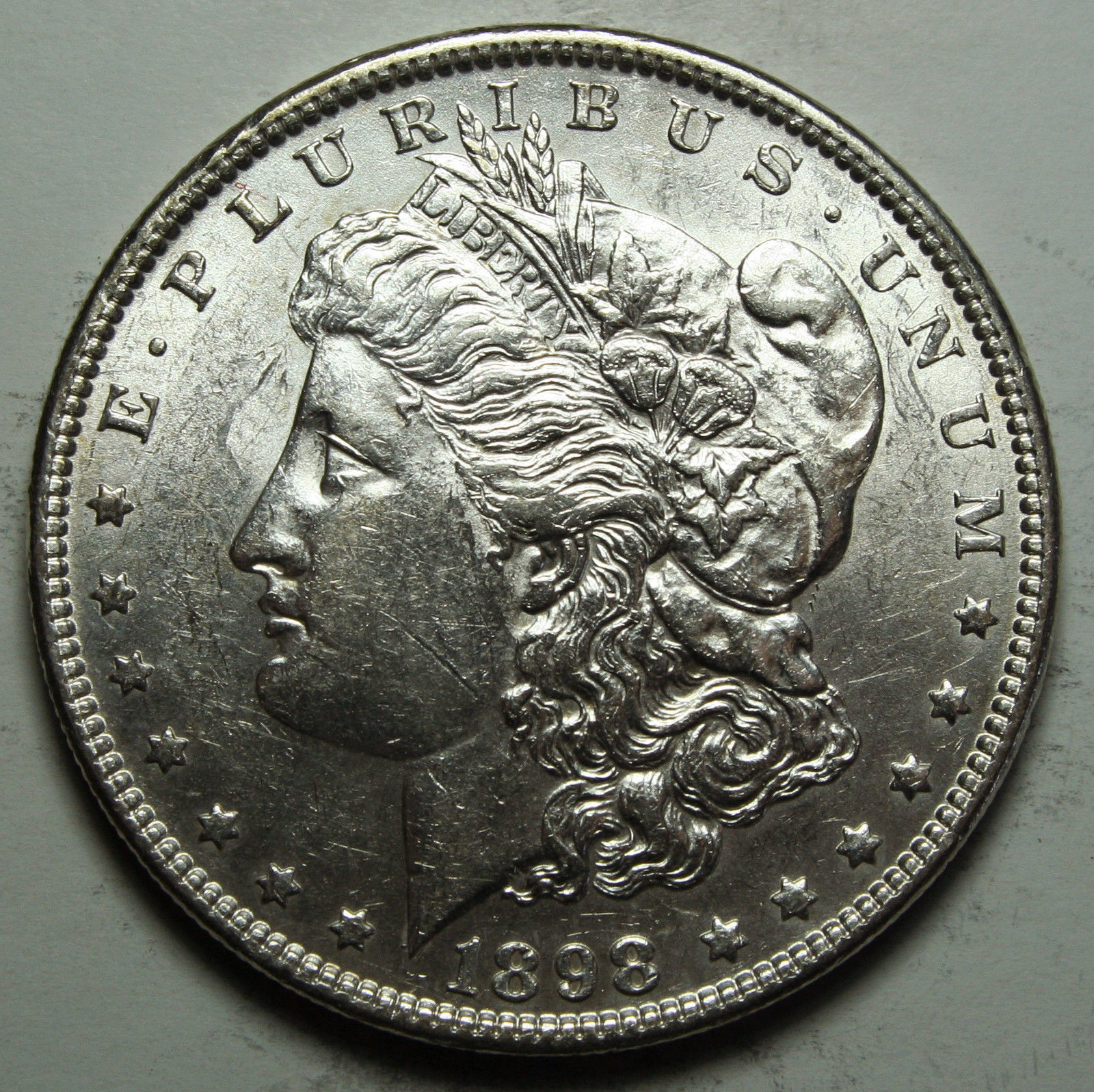 1898 MORGAN SILVER DOLLAR COIN Lot# D 63