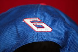 Vintage MARK MARTIN #6 Racing Blue Red Snapback HAT CAP Made In USA NASCAR image 3
