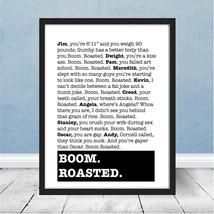 The Office Boom Roasted Poster Michael Scott Dunder Mifflin Stress Relie... - $24.98