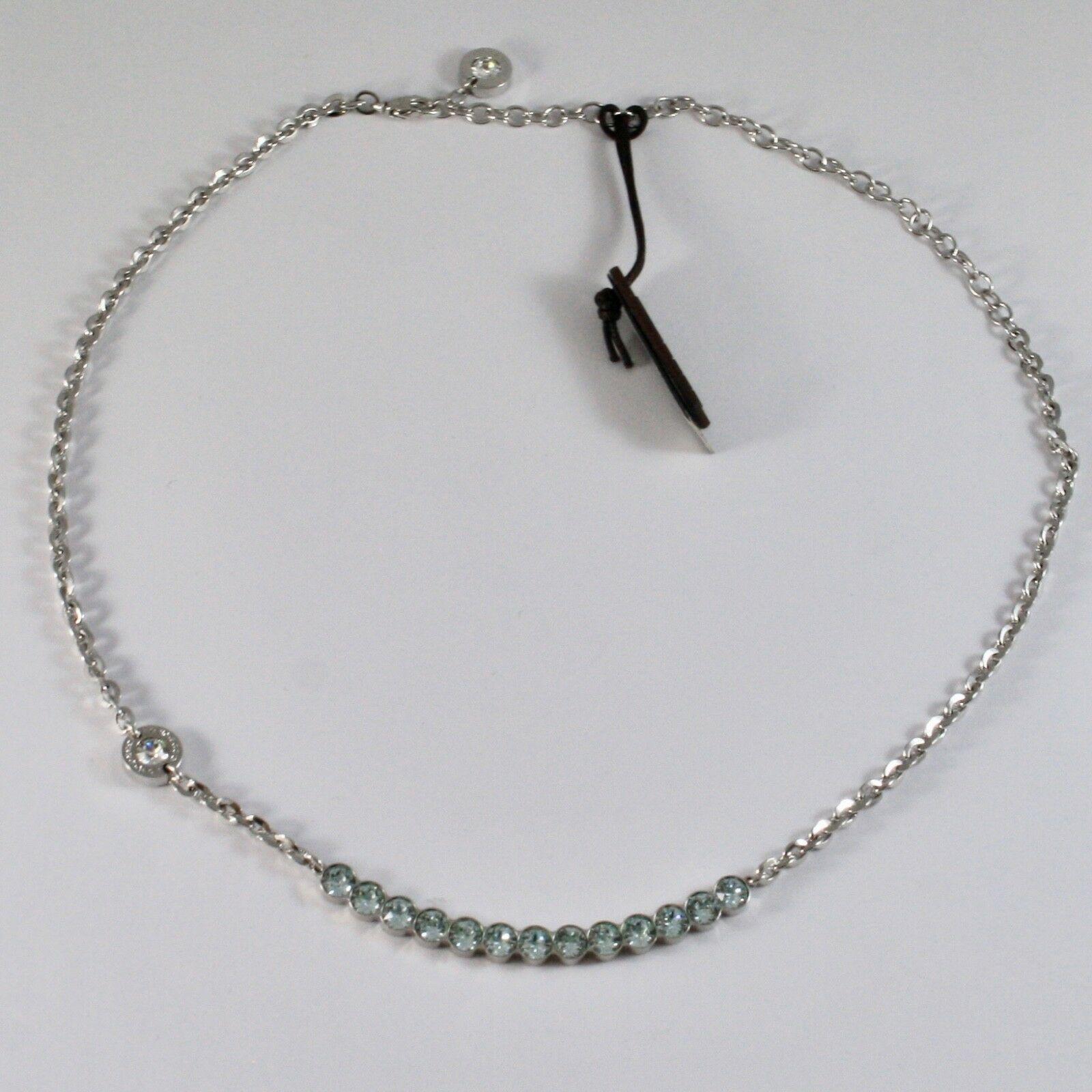 Necklace Rebecca Bronze with Crystals Blue Brilliant Cut Bpbkbl14