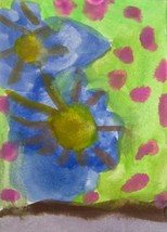"""Original Abstract Watercolor Painting """"Summer"""" ACEO by 6 Year Old Artist... - $7.99"""