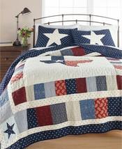 Martha Stewart Collection Texas Patchwork Cotton King Quilt T4101639 - $150.47