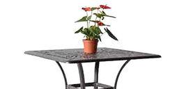 "Outdoor bar square table 36"" Elisabeth patio pool side cast aluminum furniture image 5"